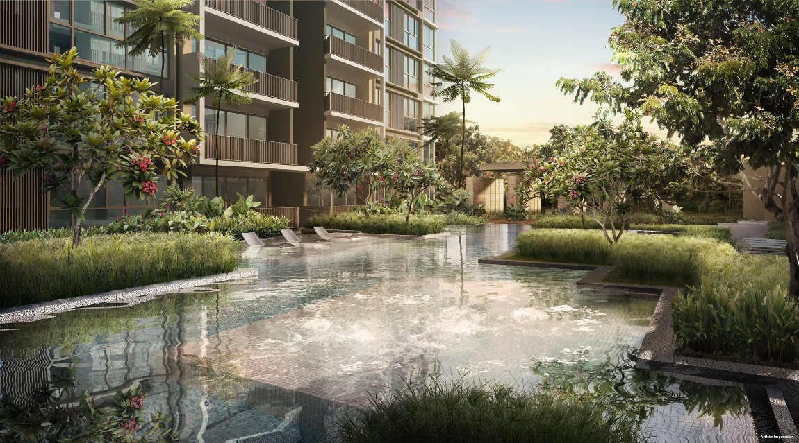 Bellewaters EC by Qingjian Realty . Developer for the Visionaire Singapore