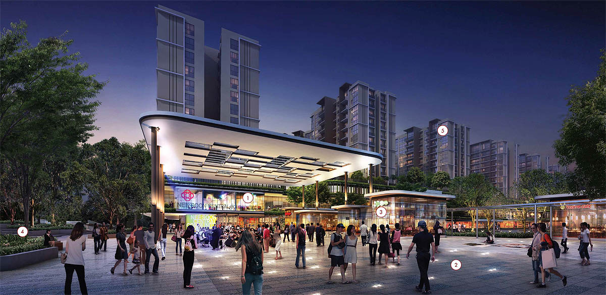 NorthPoint City :: One MRT stop from the Visionaire EC