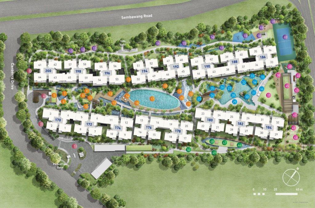 The Visionaire Site Plan . Visionaire EC Site Plan Layout